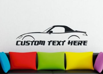 Large Custom car silhouette wall sticker - for Mazda MX5 / Miata ND , (Top up) | 4th gen  MK4
